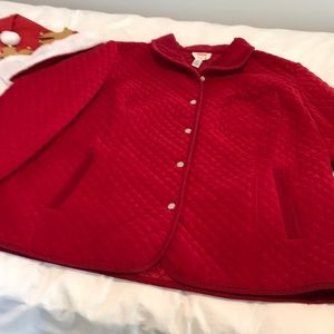 Talbots Woman Stretch Red Jacket